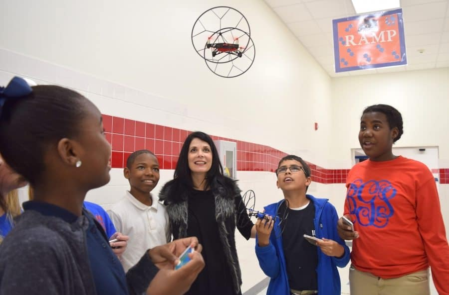 0010-drones Pascagoula teacher shows passion for students' growth