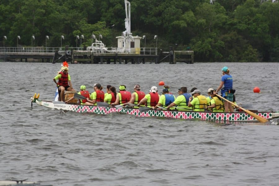 IMG_3270 Chevron brings the heat in Dragon Boat race