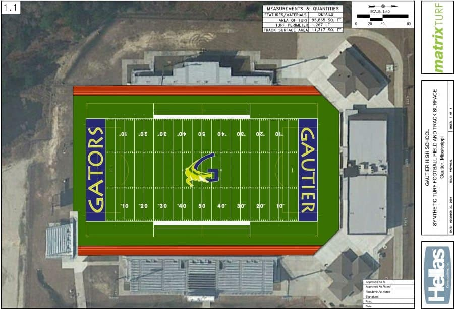 Gautier-HS-Football-Soccer-Drawing-skinny-both-blue-end-zone PGSD Athletics Gets An Overhaul