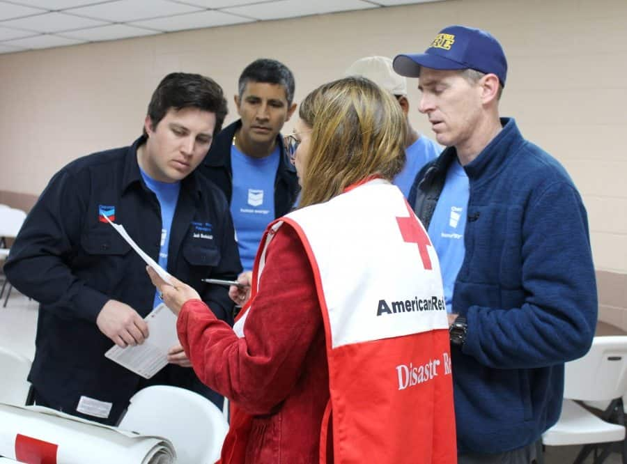 ARC-group Chevron, Red Cross Partner for Fire Safety