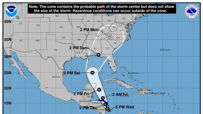 sd-tropical-storm-sixteen-to-form-into-storm-nate-20171004 What You Need to Know for Tropical Storm Nate