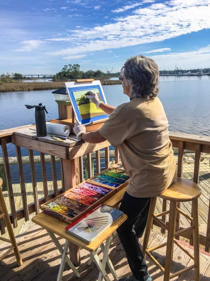 15027388_1073994719385409_5626742598882010696_n Audubon Center to Showcase Moss Point Plein Air Festival Artwork