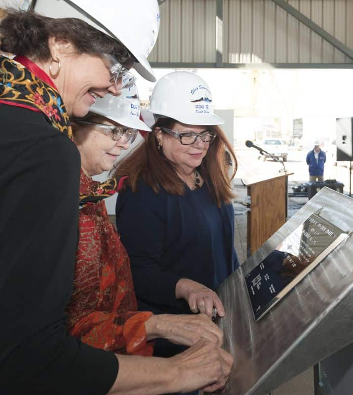 higbee_keel_3aa0c5e7-33e9-466d-969e-f550710dc806-prv Huntington Ingalls Authenticates Keel of Guided Missile Destroyer Lenah H. Sutcliffe Higbee (DDG 123)