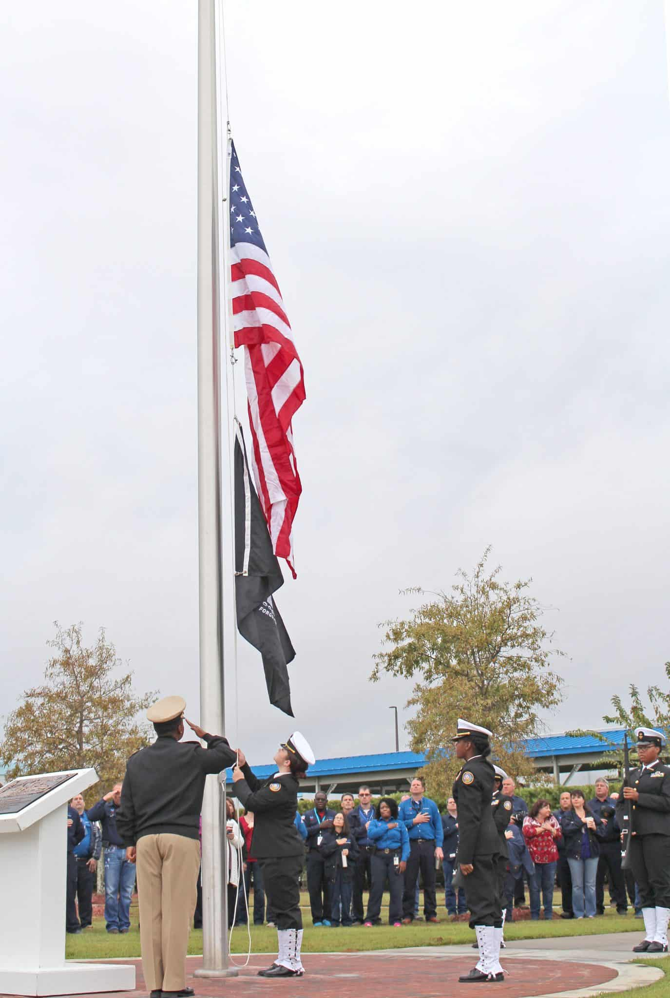VetMem.3 Chevron Veterans Employee Network Unveils Memorial, Commissions New Flag