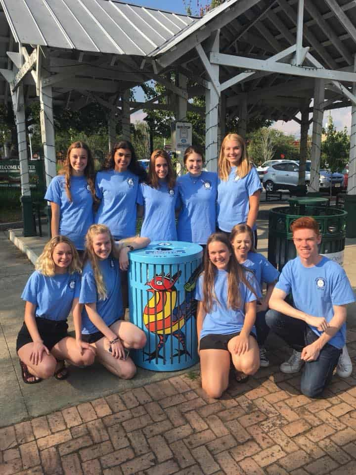 Youth-Recycling Ocean Springs Mayor's Youth Council Completes Recycle Bin Project